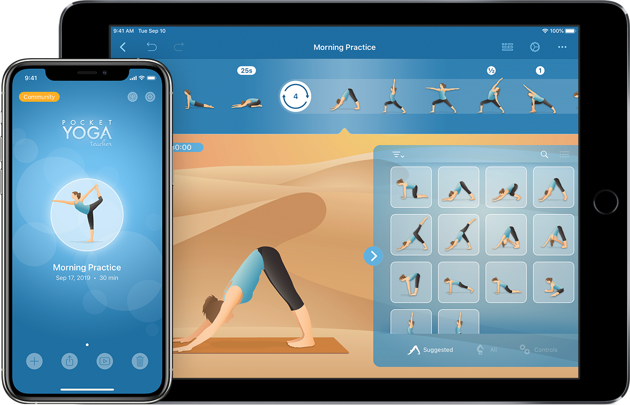 Pocket Yoga Teacher iPhone6 and iPad