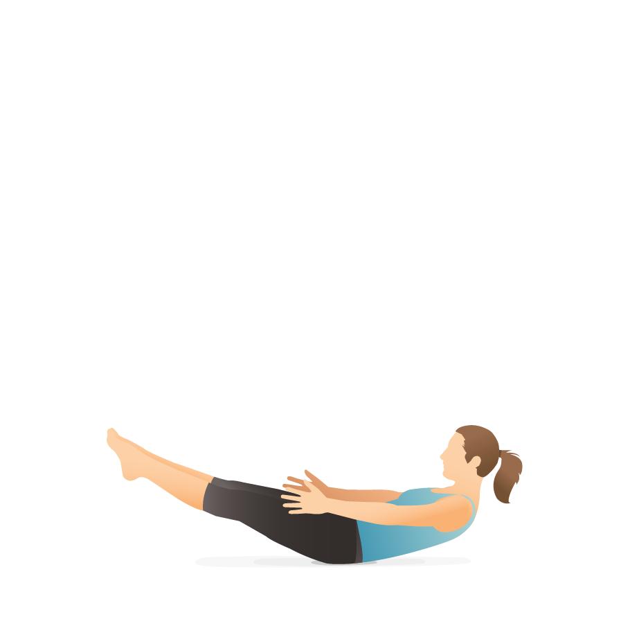 Yoga Pose Low Boat Pocket Yoga