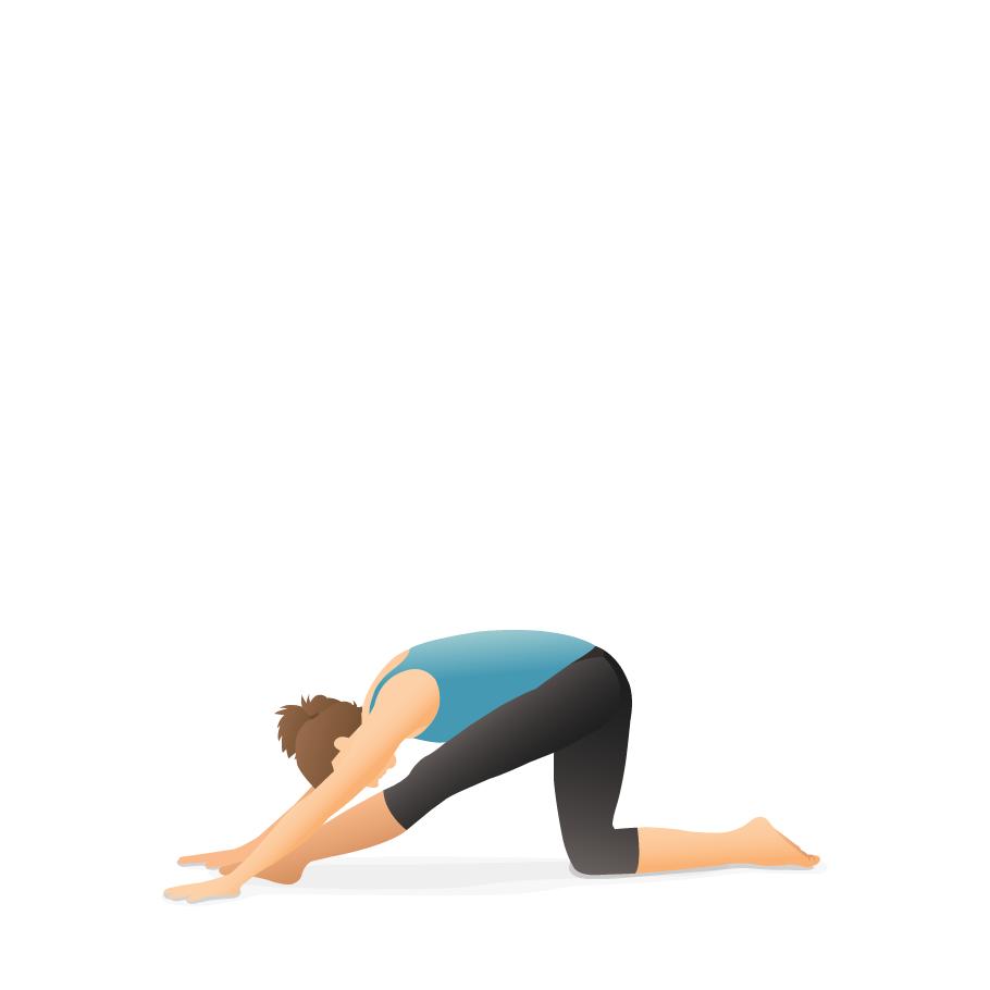 Yoga Pose Half Splits Pocket Yoga