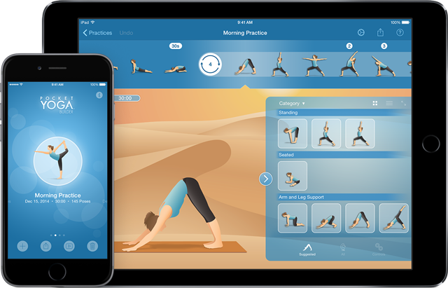 Pocket Yoga Practice Builder iPhone6 and iPad